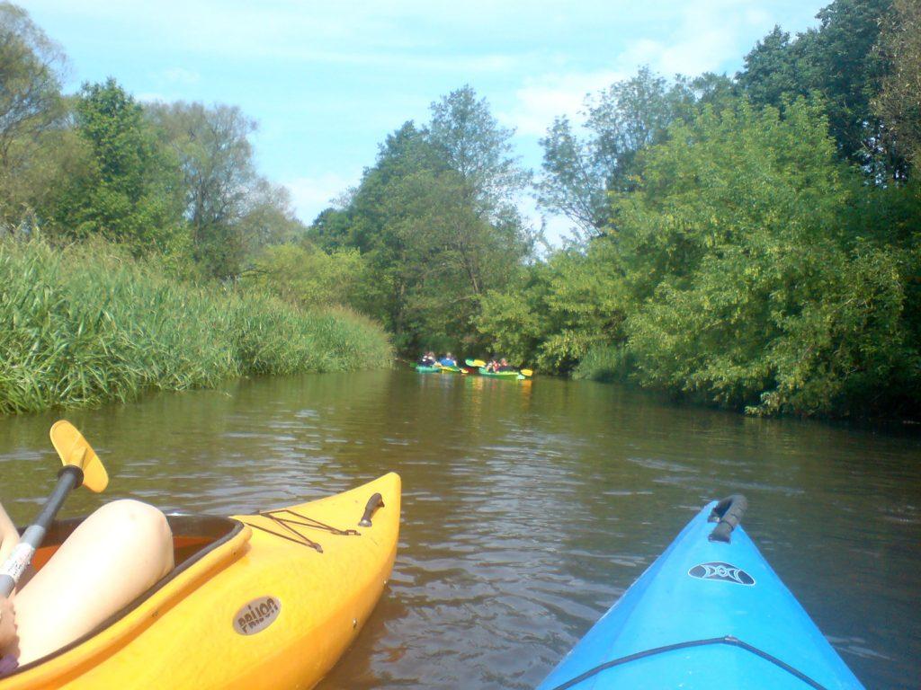 kayak on swider river in poland
