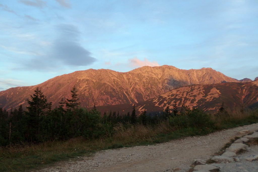 sunset tatras poland