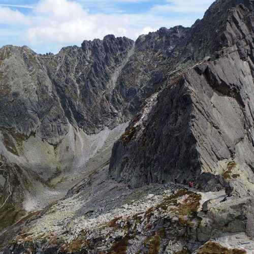tatra mountains in poland - orla perć trail