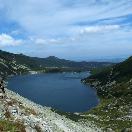 tatra mountains in poland - black pond
