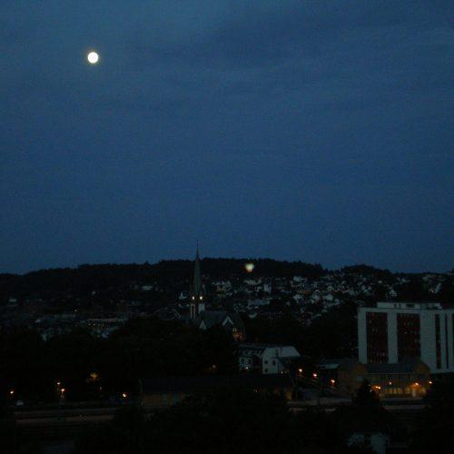 sandefjord town in norway by night