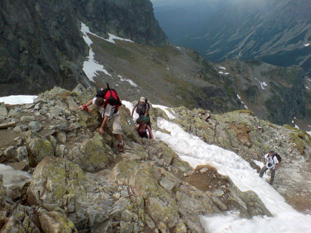 trail to zawrat tatra mountains poland