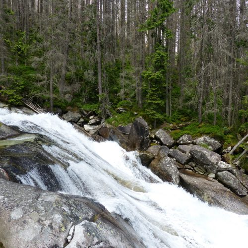 tatra mountains national park in slovakia - waterfall