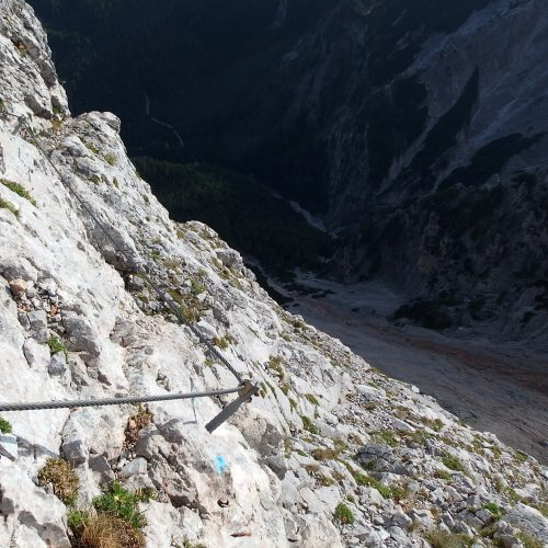 raxalpe mountains in austria - via ferrata