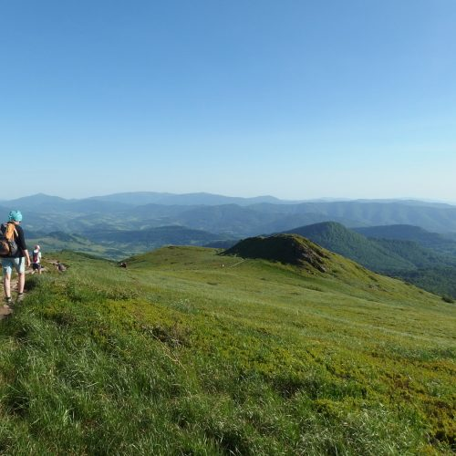 bieszczady mountains national park in poland