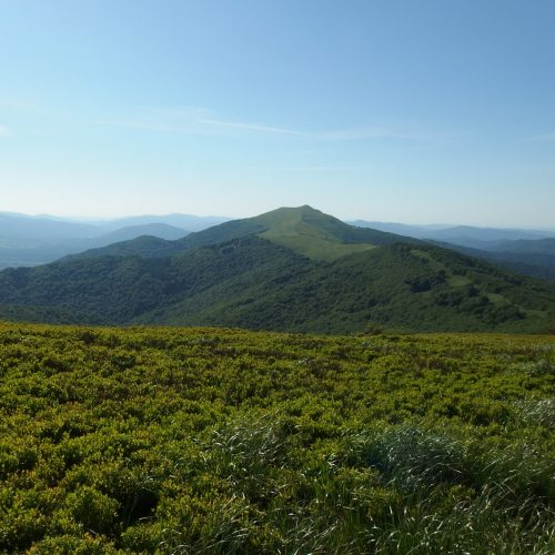 polonyna in bieszczady mountains national park in poland