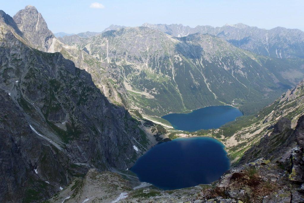 view from rysy in tatra national park
