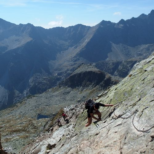 tatra mountains national park in slovakia - climbing