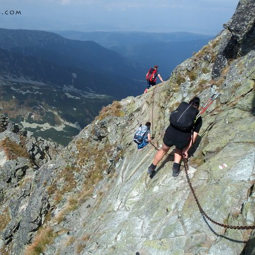 tatra mountains national park in slovakia - hiking trail rohace, via ferrata