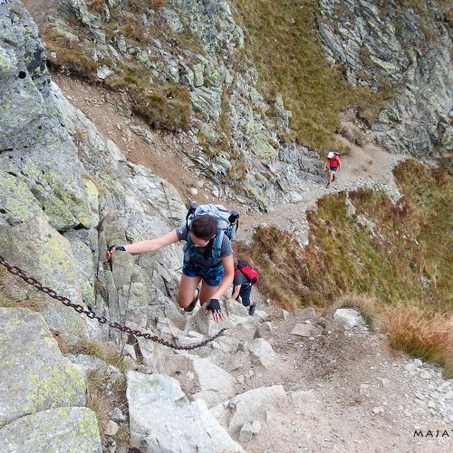 tatra mountains national park in slovakia - climbing via ferrata