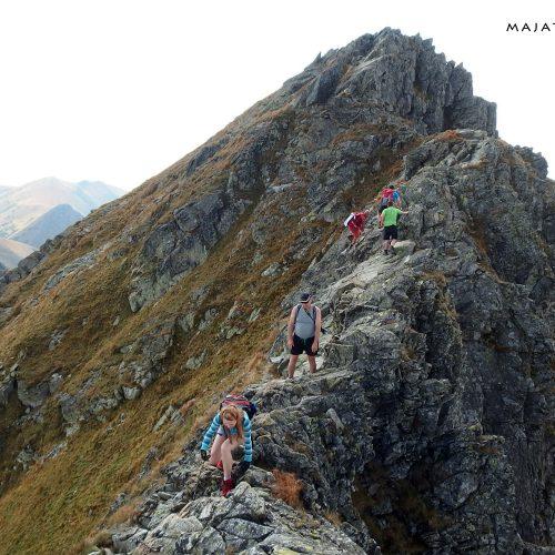 tatra mountains national park in slovakia - rohace hiking trail