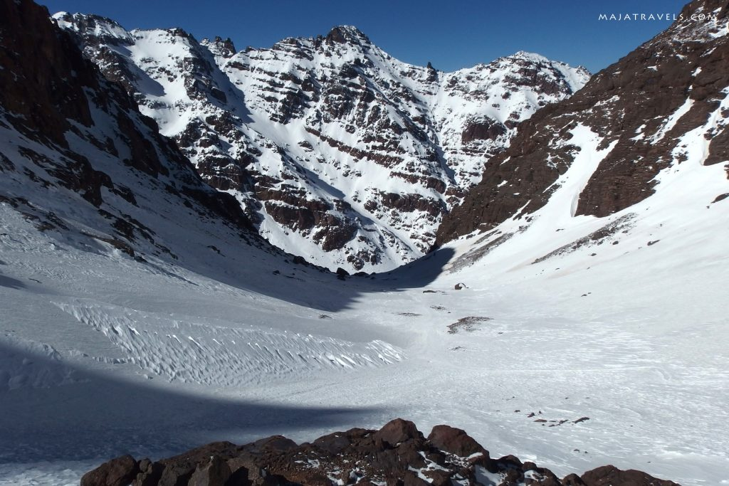 going down from toubkal