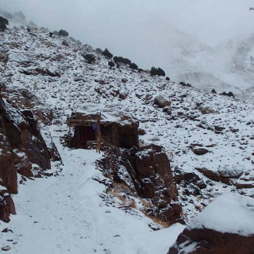 high atlas mountains in morocco - winter