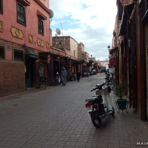 marrakech street in morocco