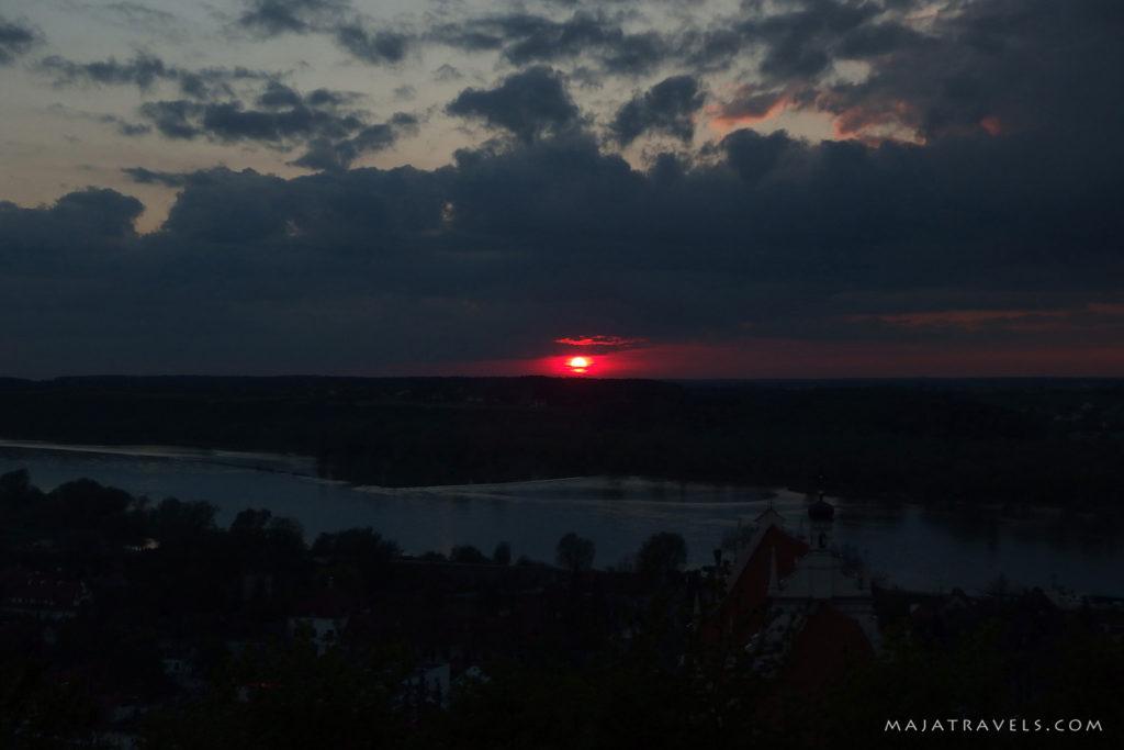sunset over kazimierz dolny