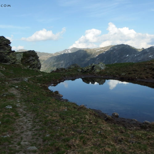 kitzbuhel alps lake at torhelm hiking trail