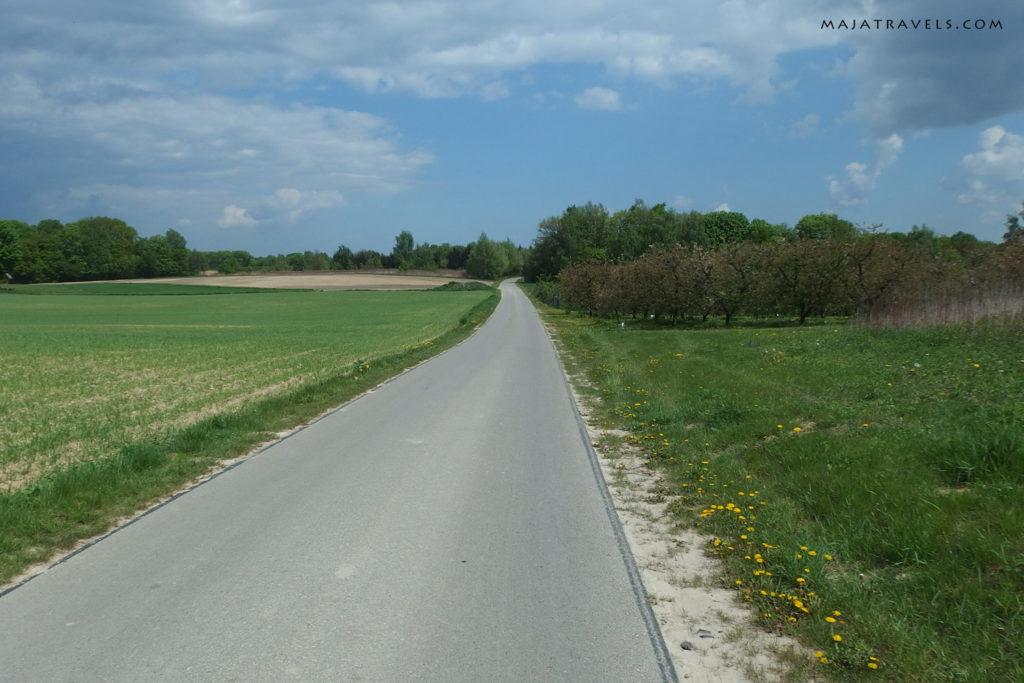 by bicycle from kazimierz dolny to dęblin