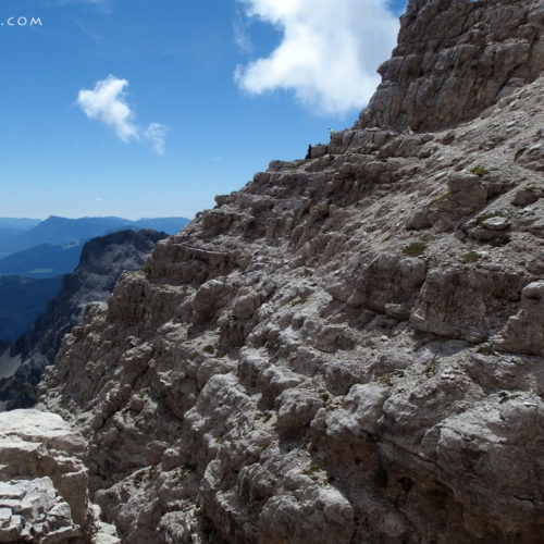 Via ferrata Bocchette Centrali in Brenta Dolomites