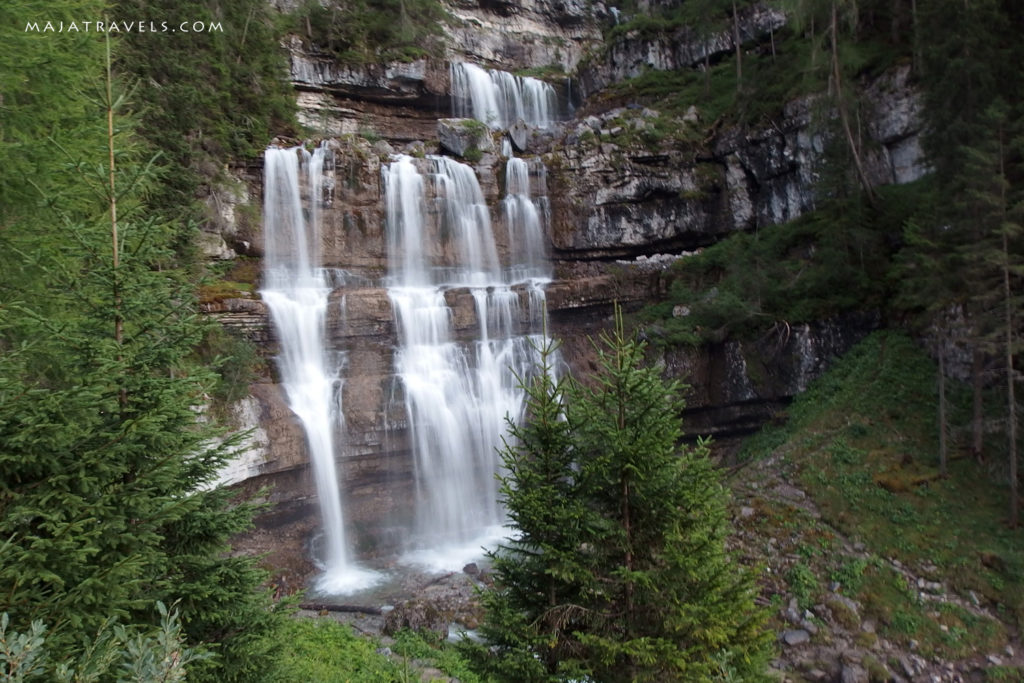 brenta dolomity, wodospad vallesinella