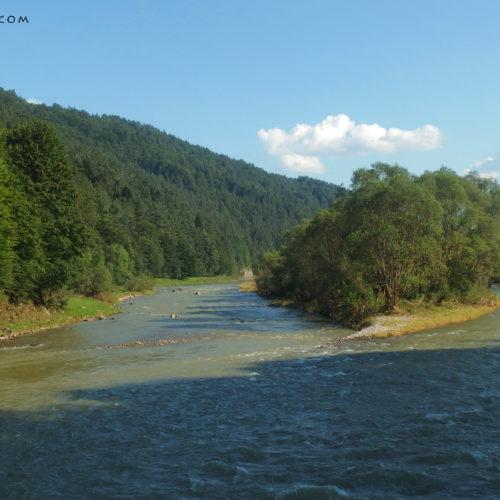 Pieniny, Dunajec river
