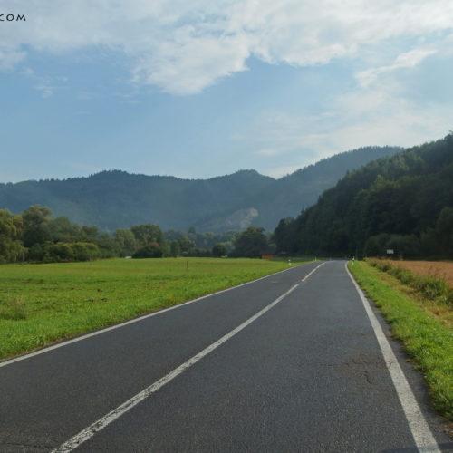 Pieniny, Slovakia, bike road