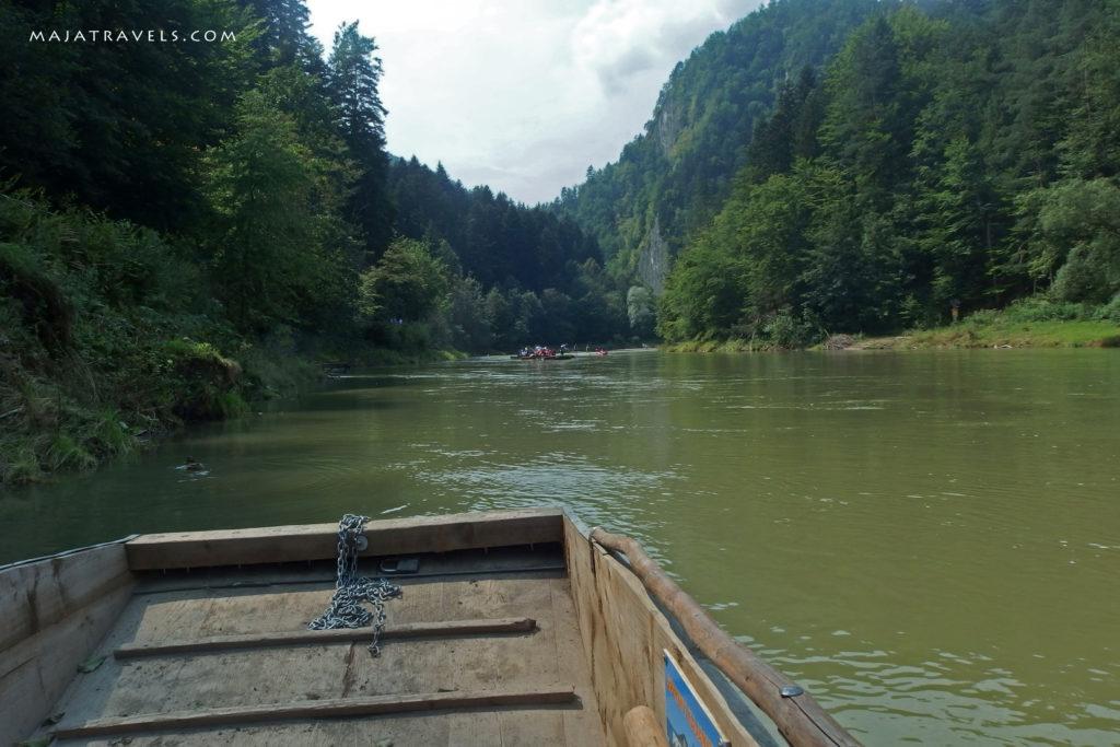 boat on dunajec river