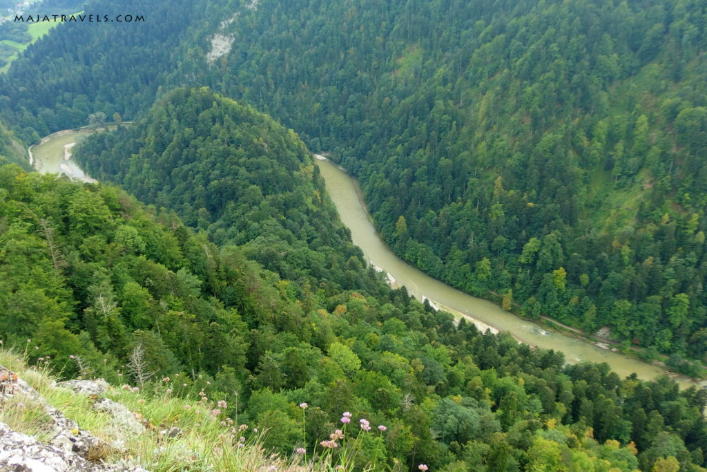 pieniny mountains, view from sokolica summit