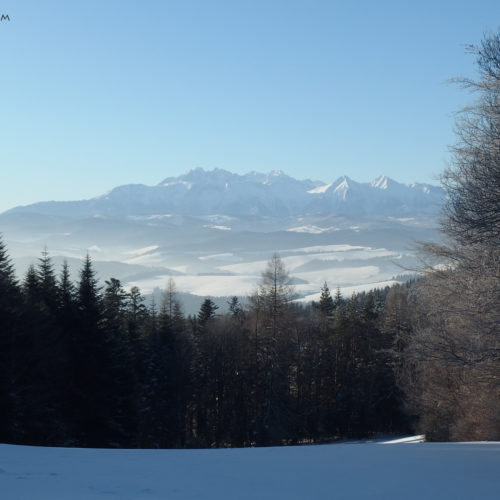 Tatra Mountains, view from Pieniny Mountains