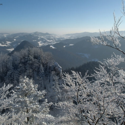 View from Trzy Korony summit, Pieniny