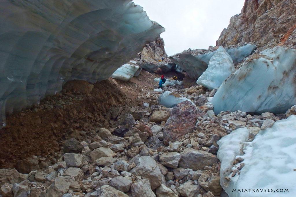 dolomity brenta, lodowiec