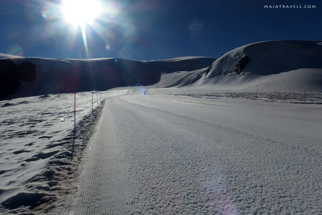 hiking trail to breithorn
