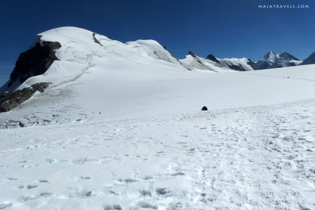 hiking trail to breithorn