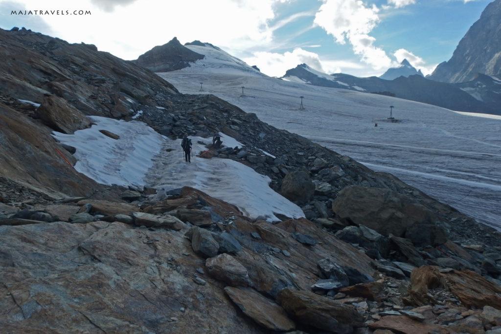 hiking to breithorn