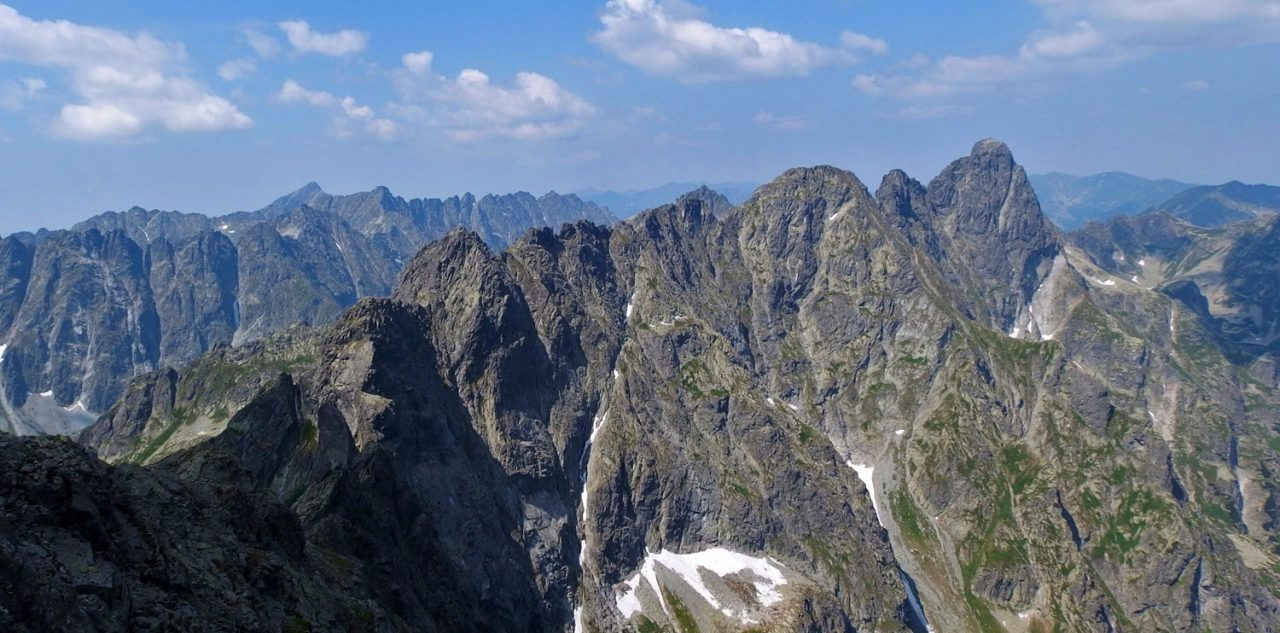 view from rysy, tatra mountains