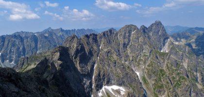view from rysy, tatra mountains