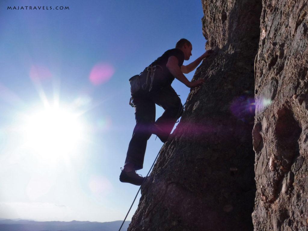 climbing in collbato, montserrat