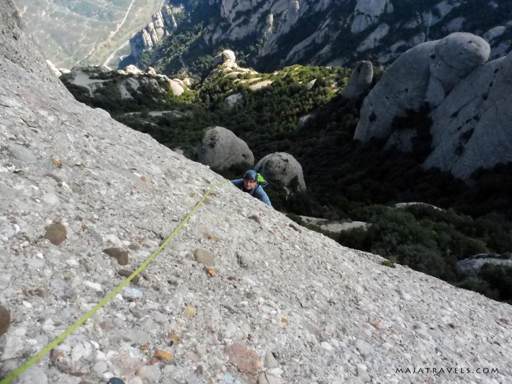 wspinanie w montserrat, skała elefant