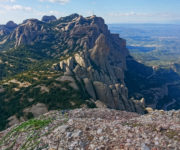 Climbing in Montserrat in Spain