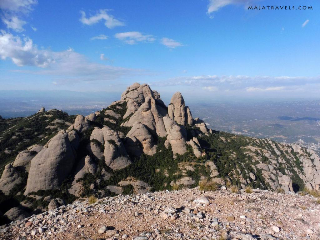 magdalena inferior w montserrat, widoki ze szczytu