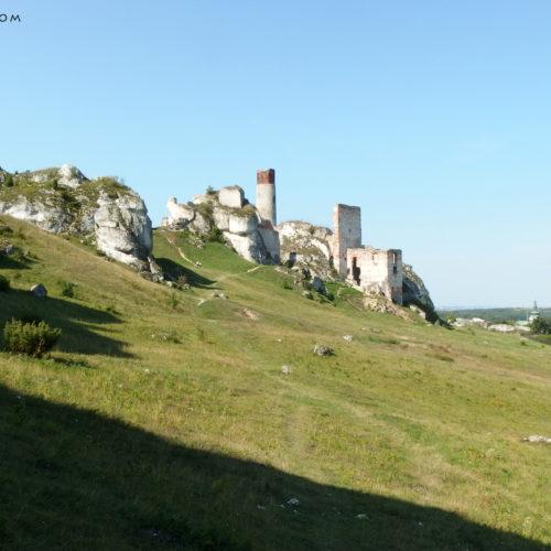 rock climbing in poland, jura, castle olsztyn