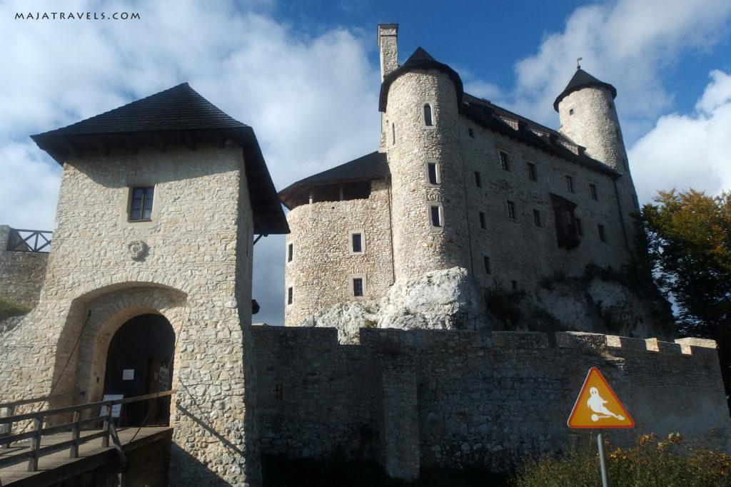 rock climbing in poland, jura, bobolice castle