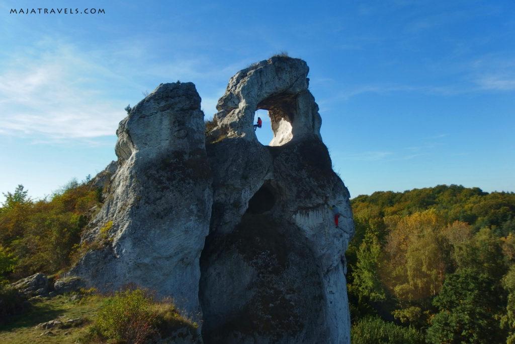 rock climbing in poland, jura, okiennik