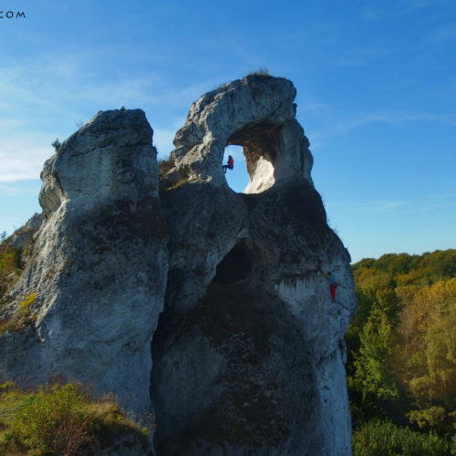 rock climbing in poland, jura, okiennik