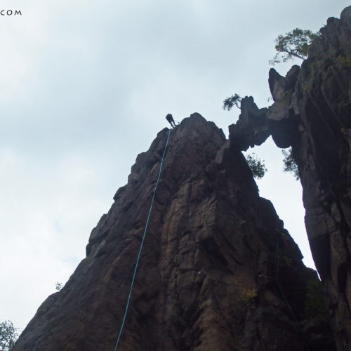 Rock climbing in Rudawy: Skalny Most