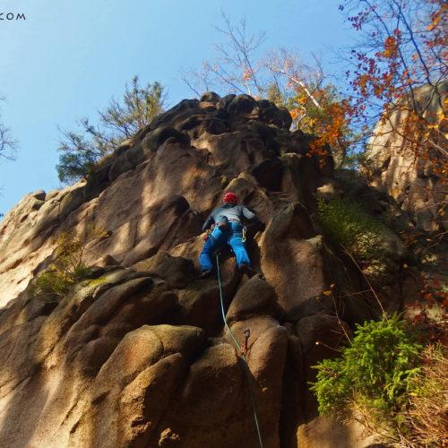 Rock climbing in Rudawy