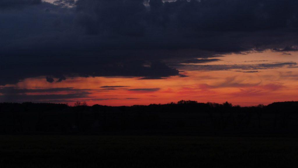 zachód słońca, nadbużański szlak rowerowy