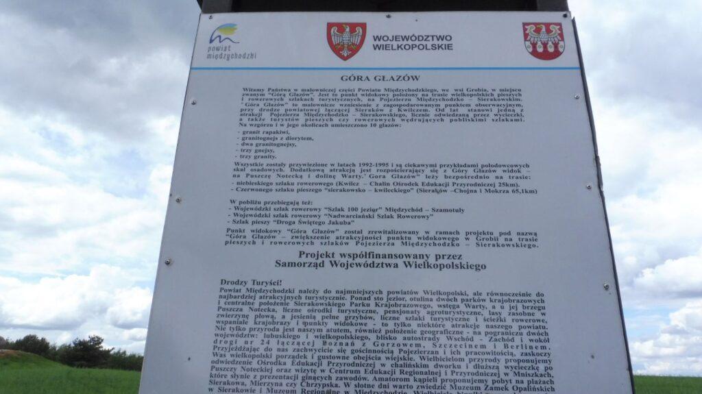 góra głazów, information table
