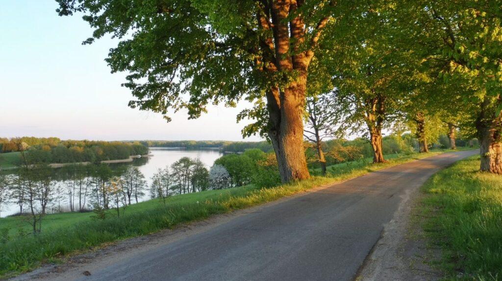 widok na jezioro drawsko