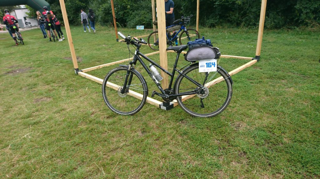 my bicycle at the start of warta gravel